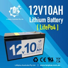 LANplus New 12V 10Ah LiFePO4 Lithium Rechargeable Battery same size as 7AH 9AH last longer