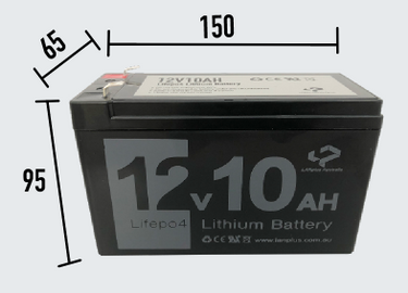 12V 10Ah LiFePO4 Lithium Rechargeable Battery Ultra Light