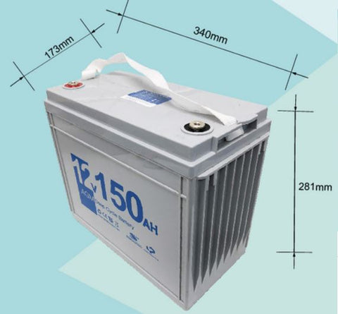 12V 150AH AGM Deep Cycle Rechargeable Battery