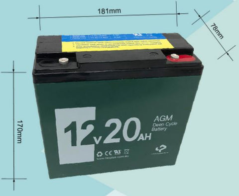 12V 20AH AGM Deep Cycle Rechargeable Battery