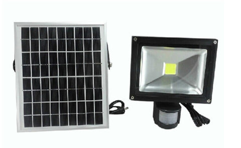 20W LED Solar Security Flood Light with PIR Sensor