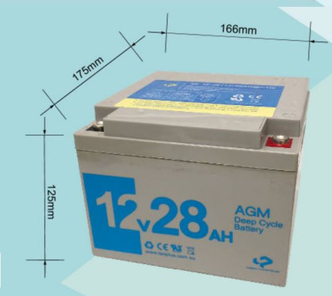 12V 28AH AGM Deep Cycle Rechargeable Battery