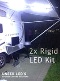 2x 12V Rigid LED Light Strip Kit with Inline On/Off Switch