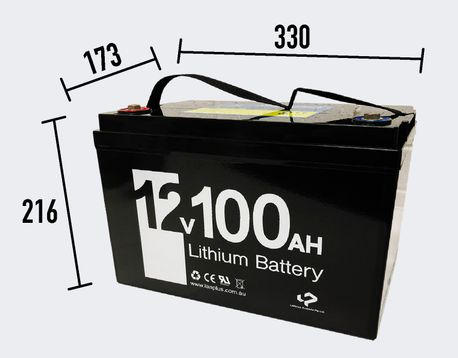 New 12V 100ah Lithium Iron LiFePo4 Deep Cycle rechargeable Battery Solar 4WD Caravan