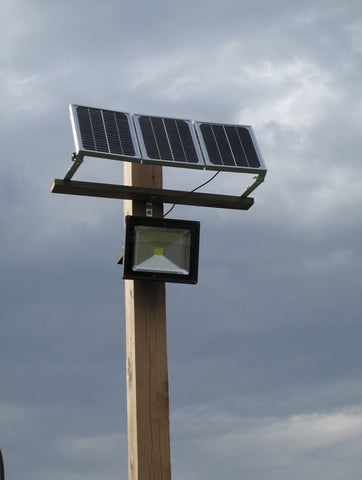50w Led Flood Light With Solar Panel And Internal Battery Uneek Leds