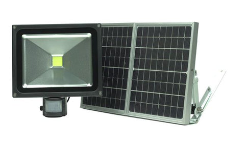 50W LED Solar Security Flood Light with PIR Sensor
