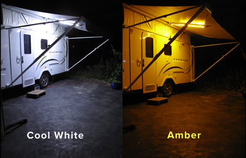Dual White / Orange Camping LED Strip