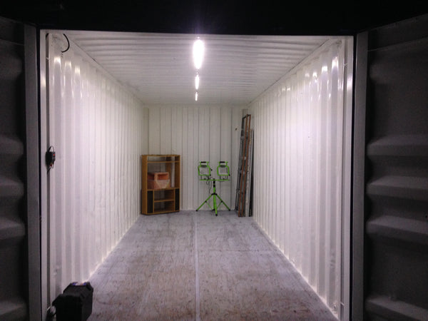 20ft Shipping Container Shed Led Setup Uneek Leds