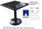Smart Solar Rechargeable Cafe Table