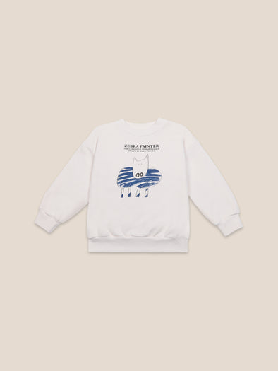 Zebra Painter Sweatshirt by Bobo Choses