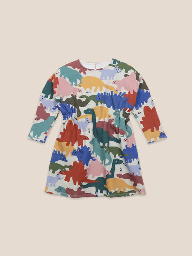 Dinos All Over Fleece Dress by Bobo Choses