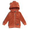 Rust Terry Towelling Hooded Jacket by Rock your Baby