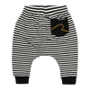 STRIPE - BABY TRACKPANTS, CREAM BLACK