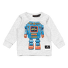 ROBO KID - LS T-SHIRT, GREY MARLE