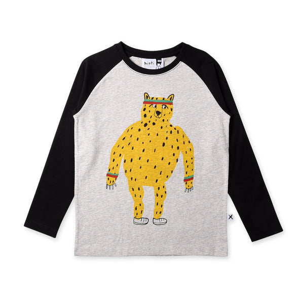 Sporty Cheetah Raglan Tee
