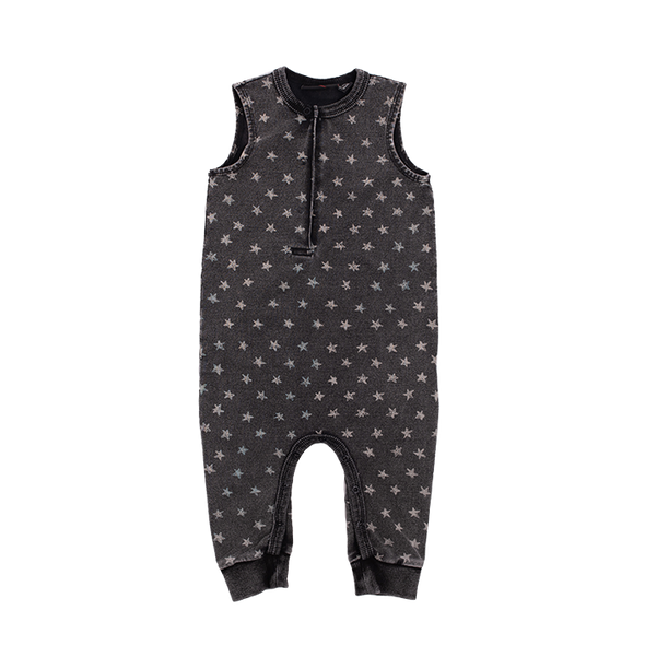 STARS - BABY JUMPSUIT, BLACK WASH
