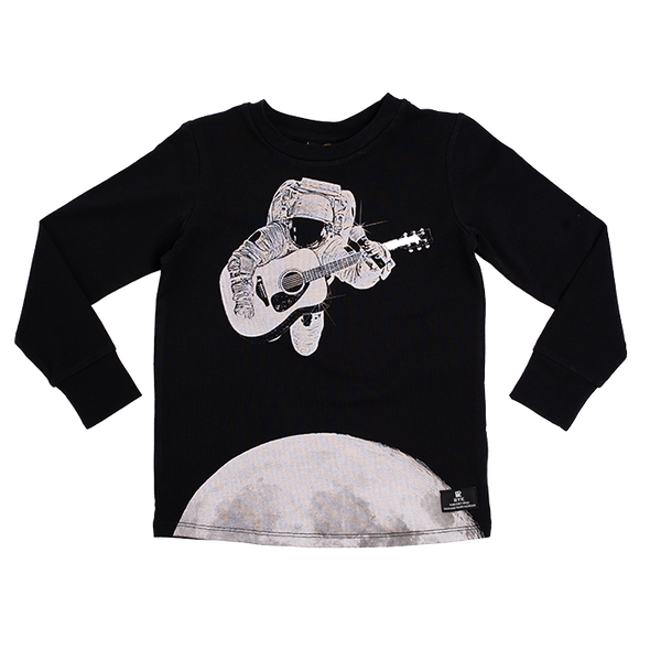 COSMIC STRUM - LS T-SHIRT, BLACK