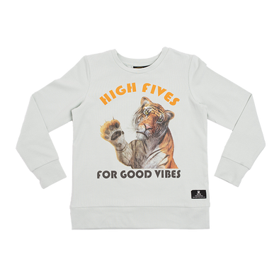 HIGH FIVES - LS T-SHIRT, LIGHT GREEN