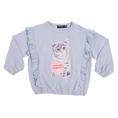 KITTEN - LS T-SHIRT, BLUE GREY