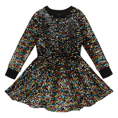 SEQUIN - LS WAISTED DRESS by Rock Your Baby