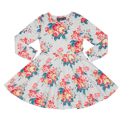 ANTIQUE CHINTZ - LS WAISTED DRESS  by Rock Your Baby