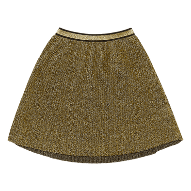 METALLIC GOLD SHIMMER - SKIRT, GOLD