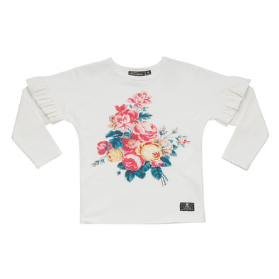 Antique Chintz - Long Sleeve Tee Shirt Cream