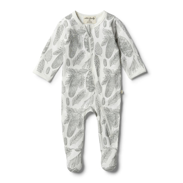 Organic Little Spruce Zipsuit by Wilson & Frenchy