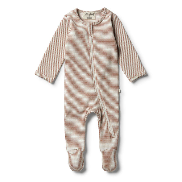 Organic Toasted Pecan Zipsuit