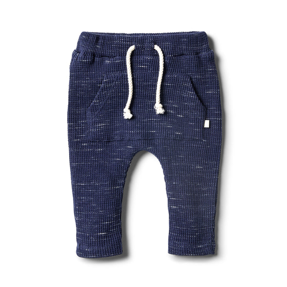 Twilight Blue Waffle Slouch Pant by Wilson & Frenchy