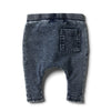 Twilight Blue Denim Look Slouch Pant by Wilson & Frenchy