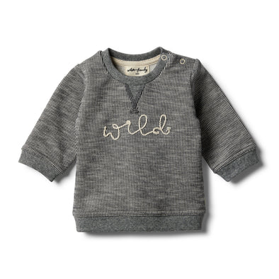 Grey Speckle Sweat Top by Wilson & Frenchy