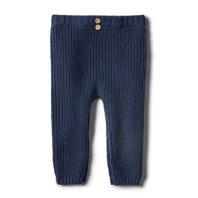 Twilight Blue Rib Knitted Legging