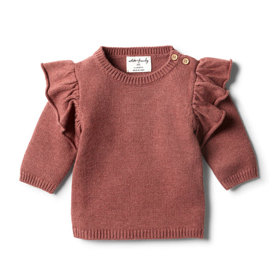 Chilli Marle Knitted Ruffle Jumper