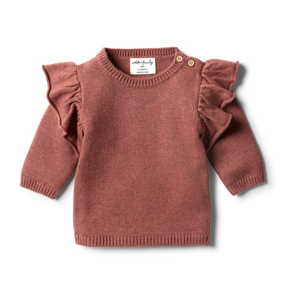 Chilli Marle Knitted Ruffle Jumper by Wilson & Frenchy
