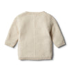 Oatmeal Knitted Chevron Jumper by Wilson & Frenchy