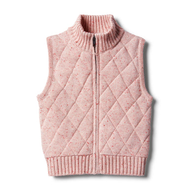 Chilli Fleck Knitted Baby Vest by Wilson & Frenchy
