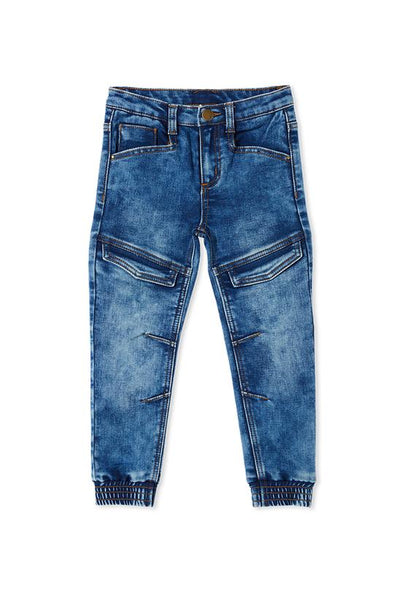 Baby Knit Denim Jogger by Milky