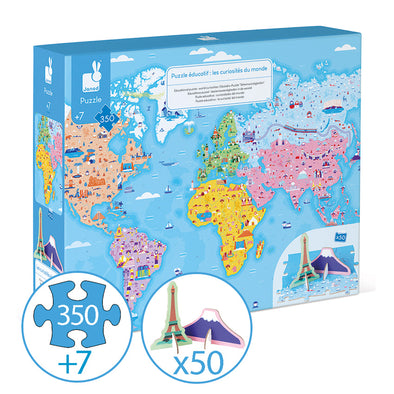 Janod - Educational Puzzle World - 350 pieces