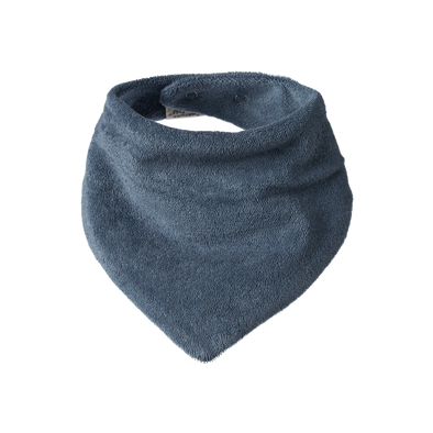 Terry Triangle Bib by Nature Baby - Deep Blue