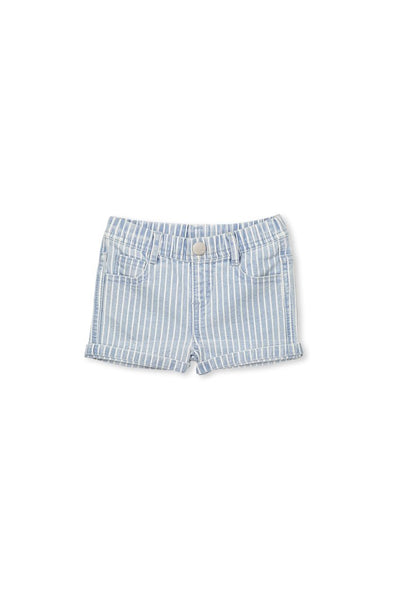 Baby Denim Stripe Short by Milky