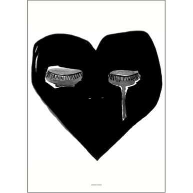 Crying Heart Print by Pax & Hart (with frame)