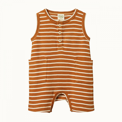 Camper Suit by Nature Baby - Harvest Sailor Stripe
