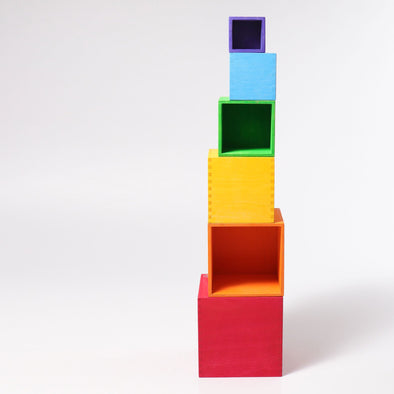 Rainbow Stacking Boxes by Grimm's