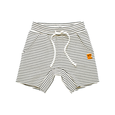 Cream/Black Stripe Shorts by Rock Your Kid
