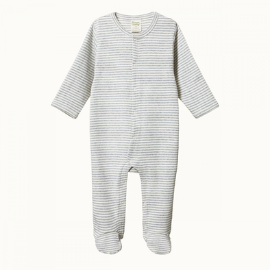 Cotton Stretch & Grow by Nature Baby - Grey Marl Stripe