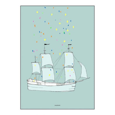 This Ship has Sailed Print by Pax & Hart (with frame)