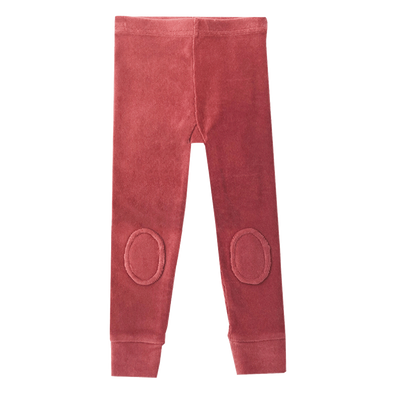 Dark Pink Corduroy Knee Patch Tights by Rock Your Kid