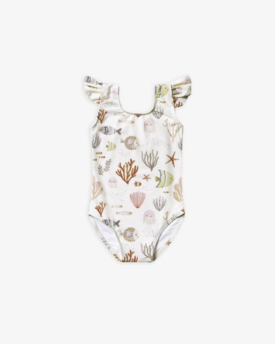 Sea Life Frill One-piece by Rylee & Cru