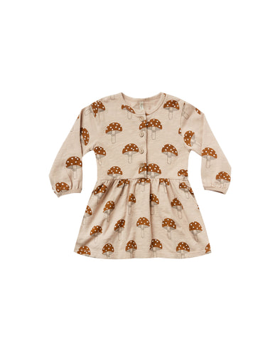 Mushroom Button Up Dress by Rylee & Cru